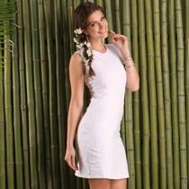 Vestido De Cotton Com Renda - Tam G-gg = 110 Cm Busto