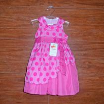 Vestido Infantil De Festa Fantasia Minnie Rosa De Poá Branco