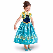 Vestido Anna Frozen Fever Disney Store Oficial 2015 Tam 4