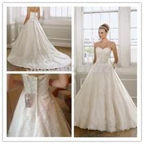 Vestido De Noiva Com Laço Tomara Que Caia Cauda Capela