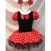 Vestido Fantasia Luxo Minnie Disney