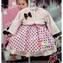 Vestido Infantil Minnie Rosa Rosa Com Bolero Tam 1 Ao 4