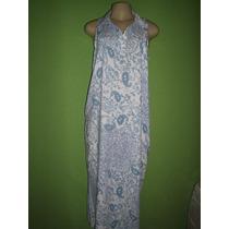 Vestido Estampa Azulejo Tamanho M