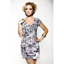 Vestido Com Detalhes Em Pedras Estilo Ed Hardy - Ref 2005
