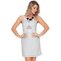 Vestido Estruturado Com Transparências Estilo Boutique