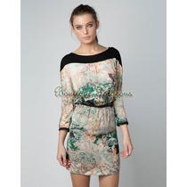 Vestido Tubinho Floral Modelo Zar Luxo - Frete Grátis