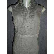 Vestido Importado Italiano Linho - Tam G / Tg 48