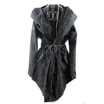 Trench Coat Jaqueta Casaco Com Capuz Hoodie Jeans Importado