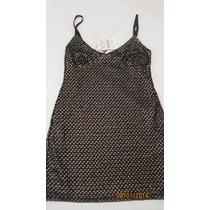 Vestido Zara Festa Curto Alças Paetes Prata Escuro