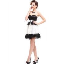 Vestido Importado Ever Pretty Em Renda E Cetim Mod 3070