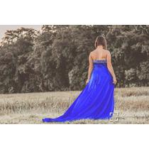 Vestido Hillow Seda Bordado Formatura Casamentos Madrinhas