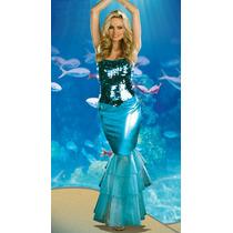 Fantasia Sereia Azul Vestido Sexy Atraente Sedutor