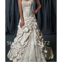 Vestido Noiva Cetin Nobre Modelo Lançamento Promoção !
