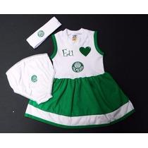 Conjunto Vestido Do Palmeiras De 0 À 18 Meses Meninas Time