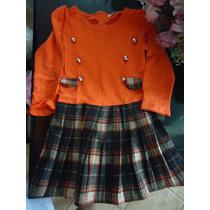 Vestido Infantil Em Malha E Lã - Produto Importado