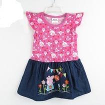 Vestido Peppa Pig Saia Jeans (pronta Entrega)