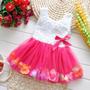 Vestido Infantil Menina Bebe Festa Pétalas - Frete Grátis