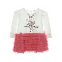 Vestido Bailarina Infantil Pituchinhus - Manga Longa