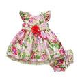 Sweet Heart Rose - Vestido + Calcinha Tapa Fralda - 24 Meses