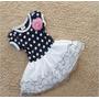 Lindo Vestido Bebê De Poá Com Saia De Tule Pronta Entrega