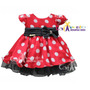 Vestido De Festa Infantil Minnie Com Faixa De Cabelo