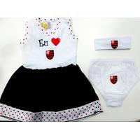 Vestido Bebê Flamengo