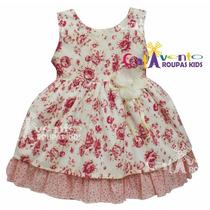Vestido Para Bebê De Festa Infantil Com Faixa De Brinde