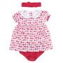 Vestido De Bebê Com Calcinha Morangos - Domanikids