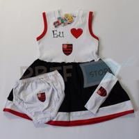 Kit Vestido Flamengo