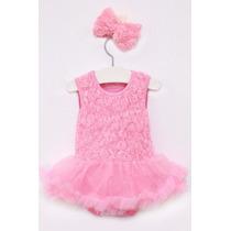 Vestido Body Rosinha Bailarina Importado Bebê