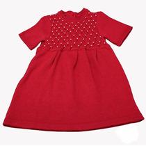 Vestido Para Bebê Casinha De Abelhas Com Pérolas.