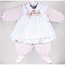 Vestido E Macacão Para Bebê Infantil Mirella Rosa |beth Bebê