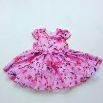 Vestido Pituchinhus Bebê Festa Chifon Rosa