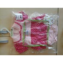Body Vestido Bebê Rosa - Marca Palminha - 9 A 12 Meses
