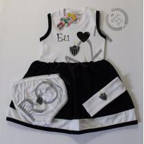 Vestido Bebê Time Atlético Mineiro