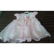 Vestido Bebê Festa Tecido Forrado Criança Branco
