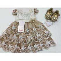 Vestido De Festa Infantil - Bebê Menina - Cattai