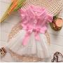 Vestido Com Saia Em Tule Bebê