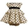 Vestido Infantil Bonnie Jean Marfim De Bolinhas - 12meses