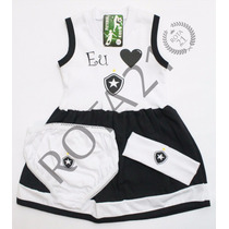 Vestido Bebê Time Botafogo