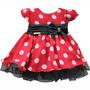 1249 - Vestido De Festa Para Bebê Tema Disney Minnie
