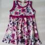 Lote 3 Vestidos (novo) Infantil Estampado - Tam 1 Ao 4