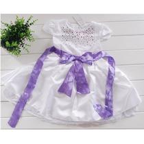 Pronta Entrega Vestido Infantil Batizado Bebê Importado