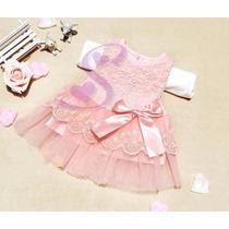 Vestido De Renda Bebê Batizado Festa Importado