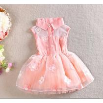 Vestido Infantil Bebê Festa Princesa Pronta Entrega