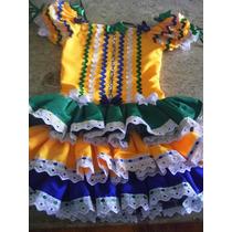 Vestido Festa Junina Copa Do Mundo Luxuoso