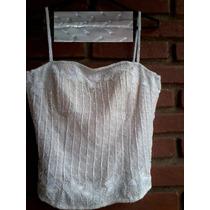 Corpete N°09/corselet/corset Bordado Pedrarias E Importado