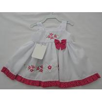 Vestido Bebê Bordado Algodão Floral Promoção Ótima Qualidade