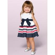Vestido Infantil Branco Marisol Tamanho P M G