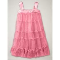 Vestido Gap *importado* Tulle Bailarina Rosa Tam 12-18 Meses